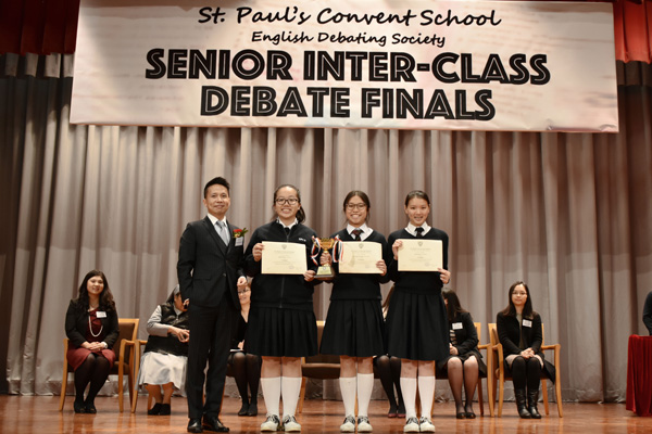 ca194f29695 The Best Debater was awarded to Natalie Fung of F. 4S. Congratulations to  all winners!
